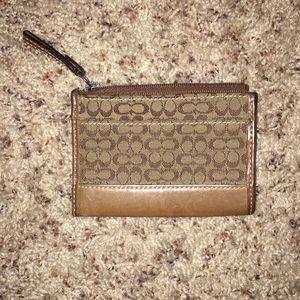 Coach Classic pattern key ring wallet